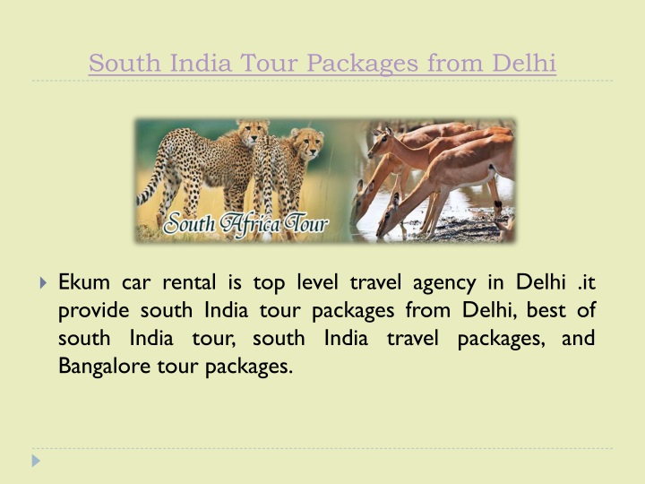 south india tour packages from delhi n.