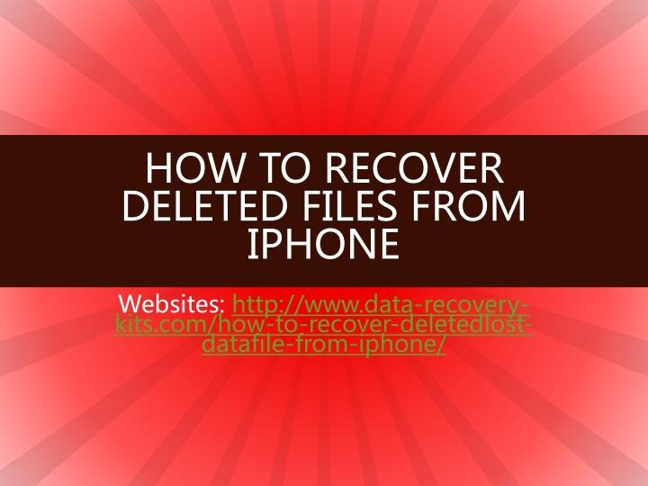 how to recover deleted files from iphone n.
