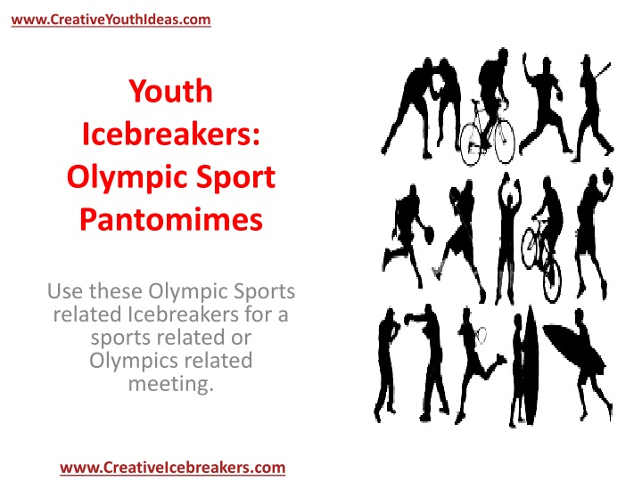 youth icebreakers olympic sport pantomimes n.