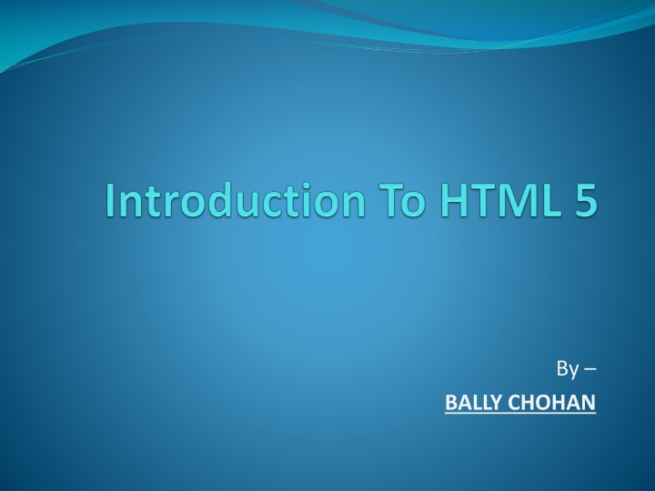 introduction to html 5 n.