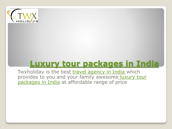luxury tour packages in india n.