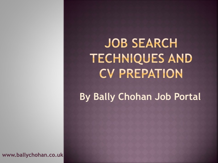 job search techniques and cv prepation n.