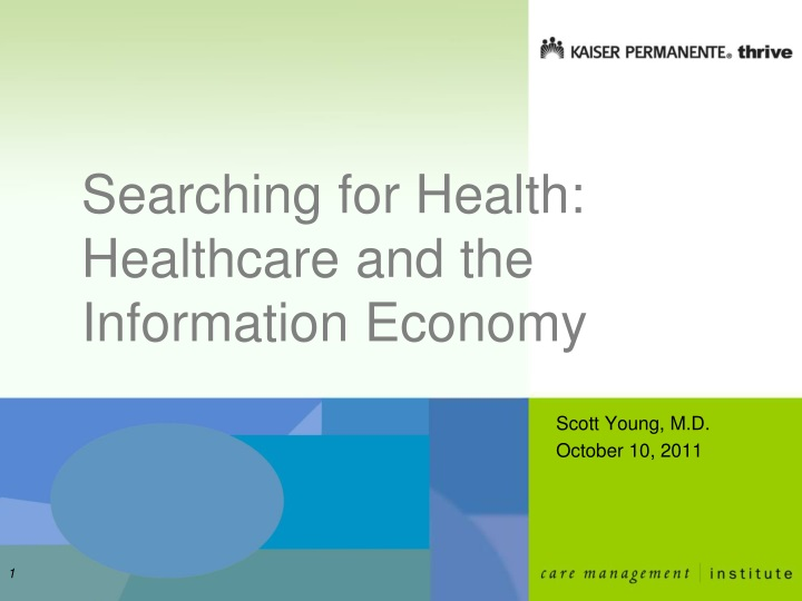 searching for health healthcare and the information economy n.