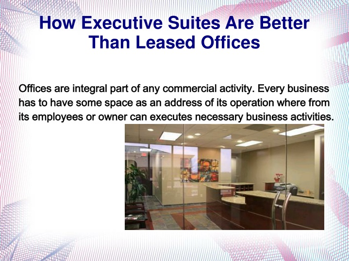 how executive suites are better than leased offices n.