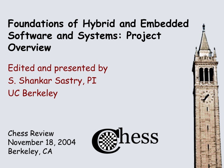 foundations of hybrid and embedded software and systems project overview n.
