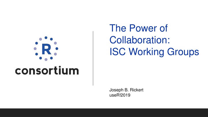 the power of collaboration isc working groups n.