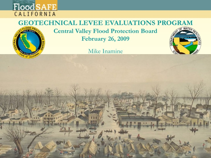 geotechnical levee evaluations program central valley flood protection board february 26 2009 n.