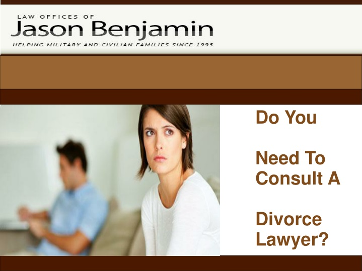 do you need to consult a divorce lawyer n.