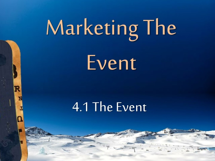 marketing the event n.