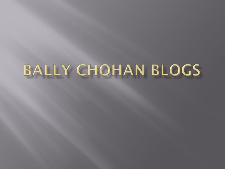 bally chohan blogs n.