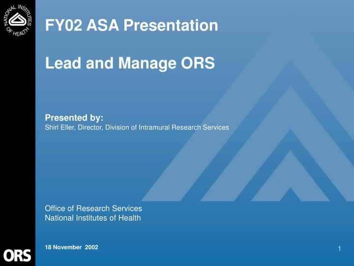 fy02 asa presentation lead and manage ors n.