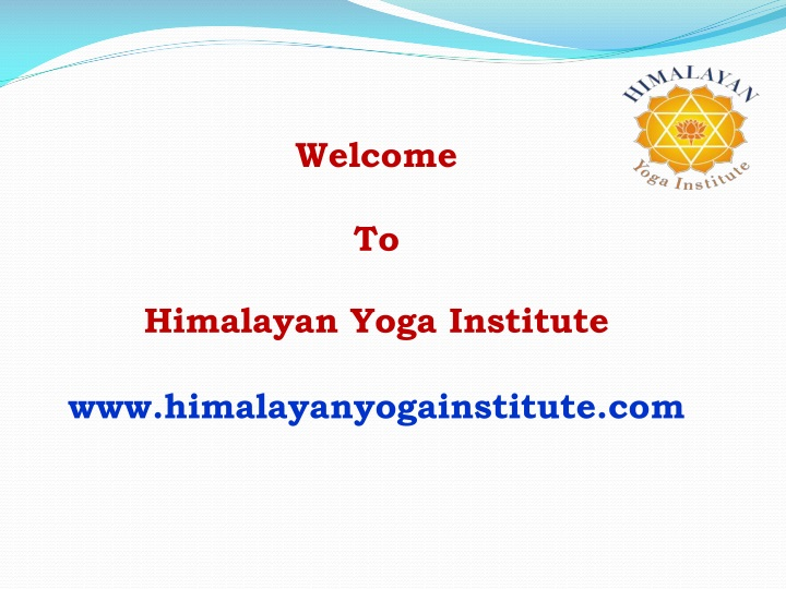 welcome to himalayan yoga institute n.