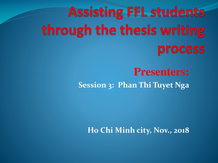 assisting ffl students through the thesis writing process n.