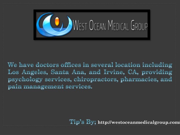 we have doctors offices in several location n.