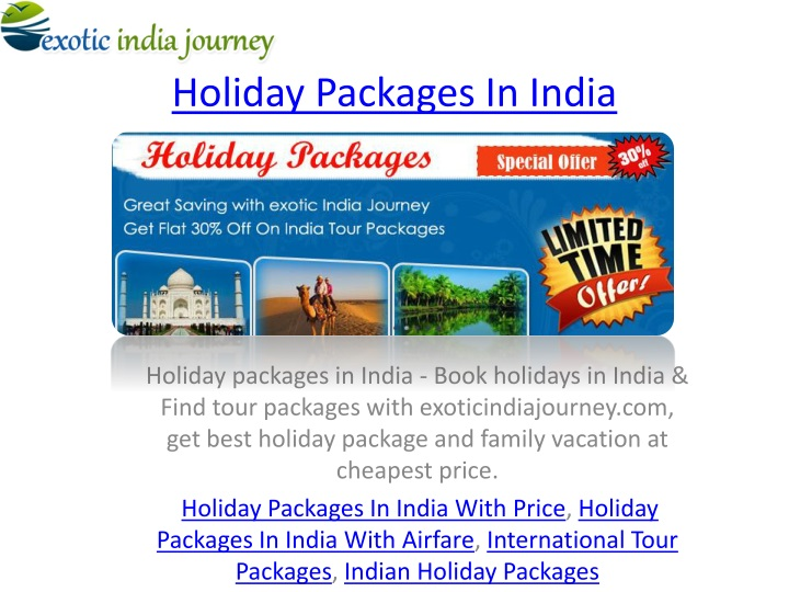 holiday packages i n india n.