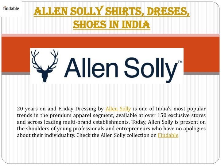 allen solly shirts dreses shoes in india n.
