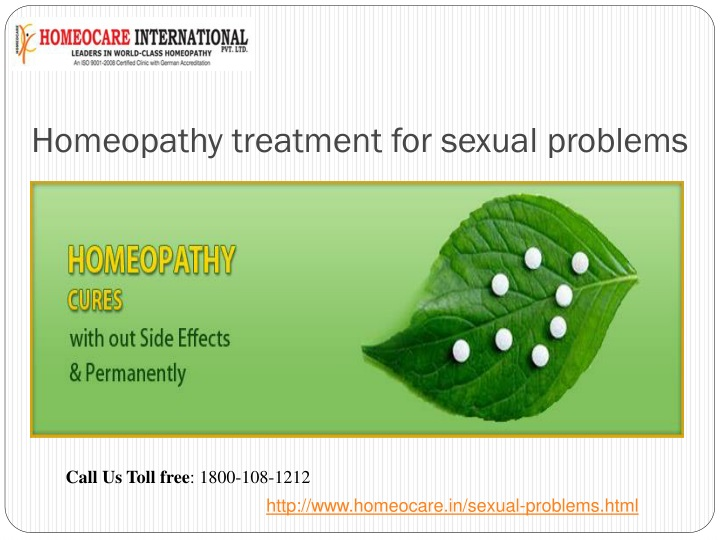 homeopathy treatment for sexual problems n.