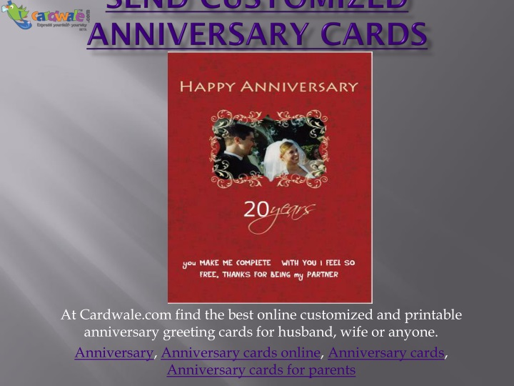 send customized anniversary cards n.