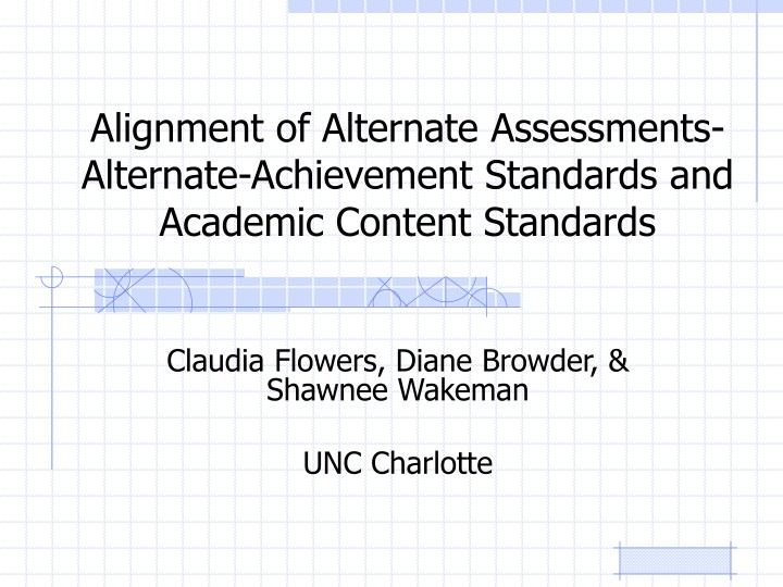 alignment of alternate assessments alternate achievement standards and academic content standards n.