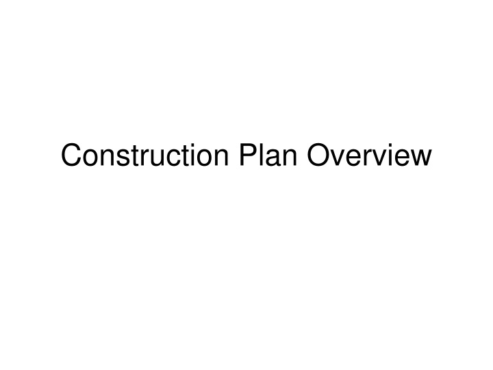 construction plan overview n.