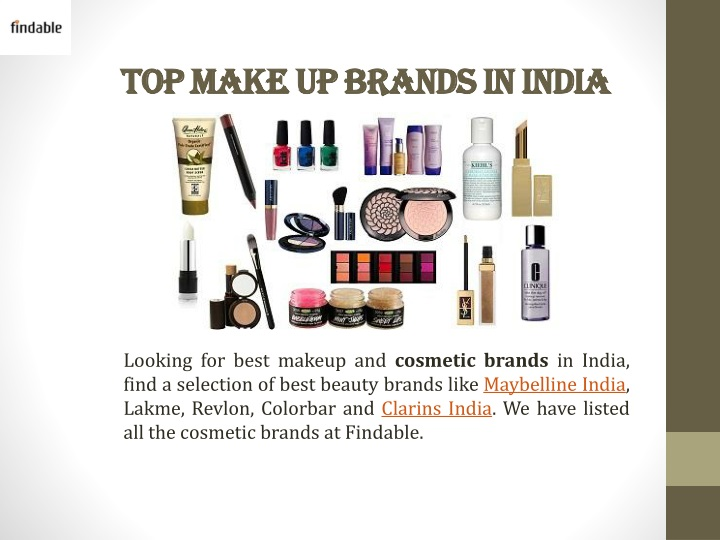 top make up brands in india n.