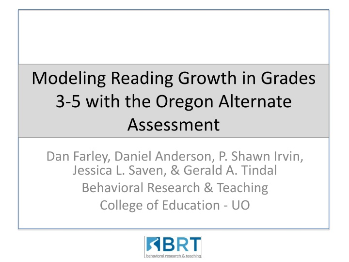 modeling reading growth in grades 3 5 with the oregon alternate assessment n.