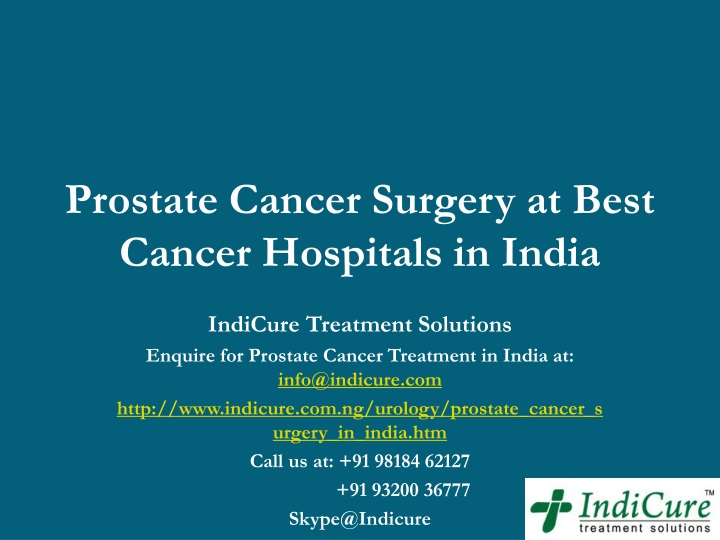 prostate cancer surgery at best cancer hospitals in india n.