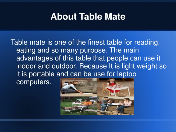 about table mate n.