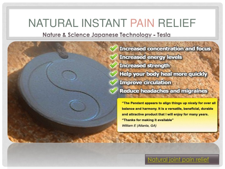 natural instant pain relief n.