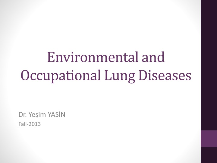 environmental and occupational lung diseases n.