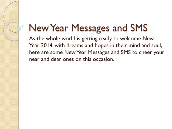 new year messages and sms n.