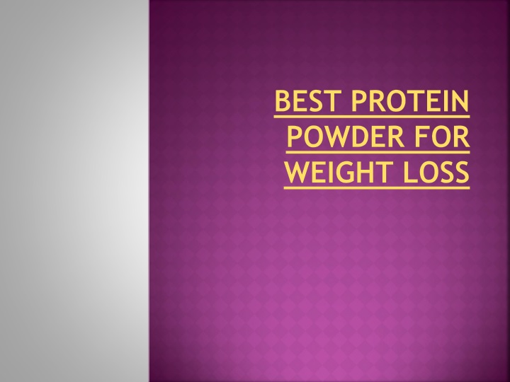 best protein powder for weight loss n.