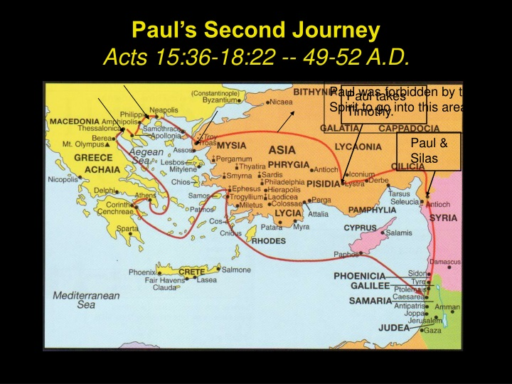 paul s second journey acts 15 36 18 22 49 52 a d n.
