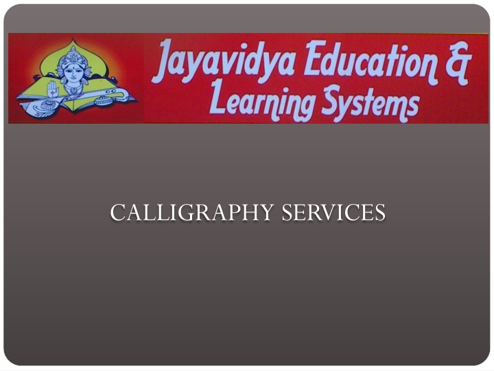 calligraphy services n.