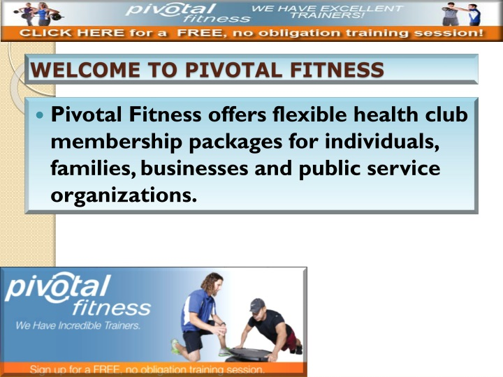 welcome to pivotal fitness n.