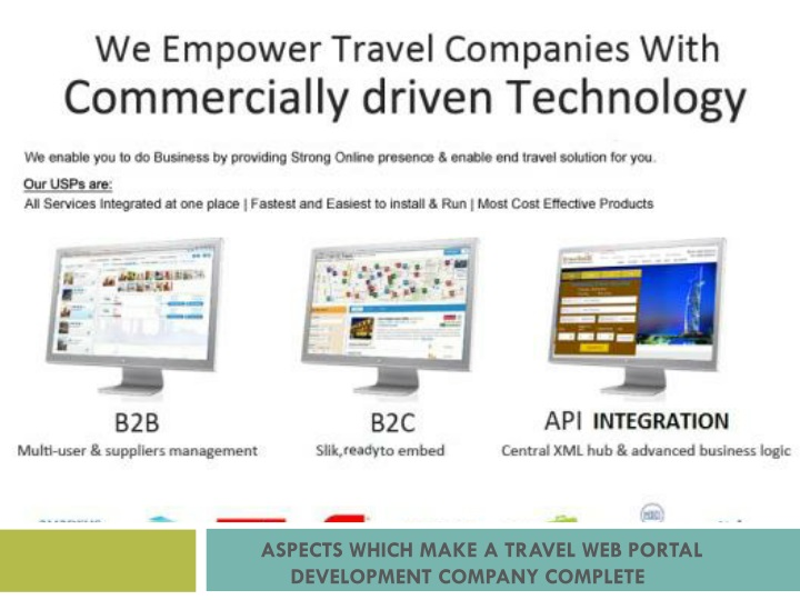aspects which make a travel web portal development company complete n.