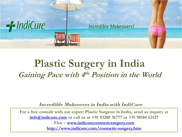 plastic surgery in india gaining pace with 4 th position in the world n.