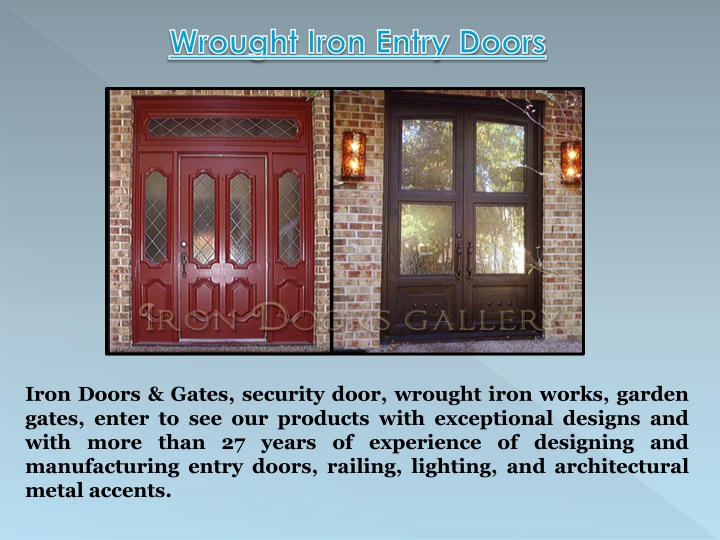 wrought iron entry doors n.
