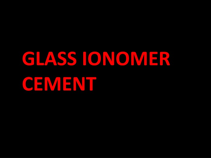 glass ionomer cement n.