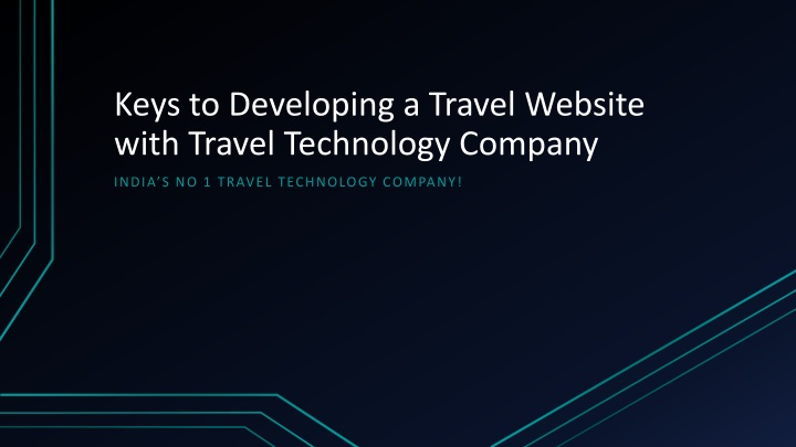 keys to developing a travel website with travel technology company n.