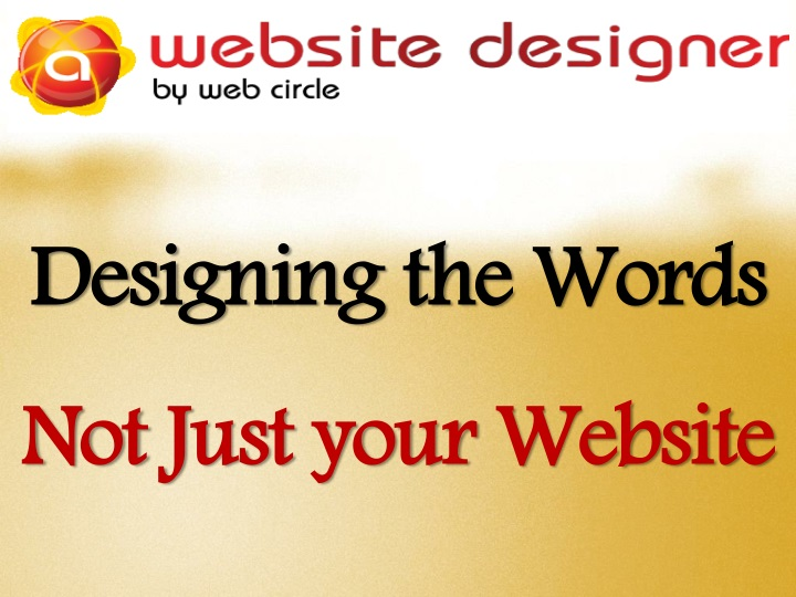 designing the words not just your website n.