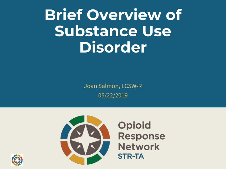 brief overview of substance use disorder n.