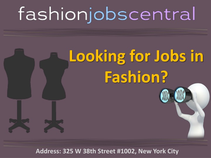 looking for jobs in fashion n.