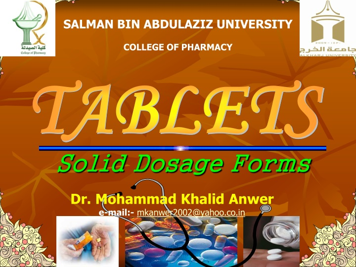 solid dosage forms n.