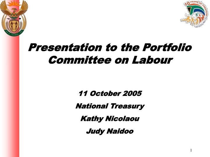 presentation to the portfolio committee on labour n.