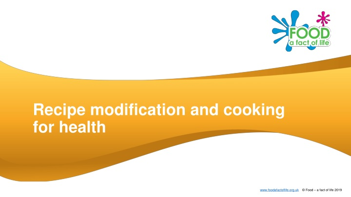recipe modification and cooking for health n.