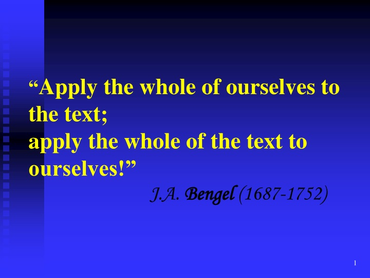 apply the whole of ourselves to the text apply n.
