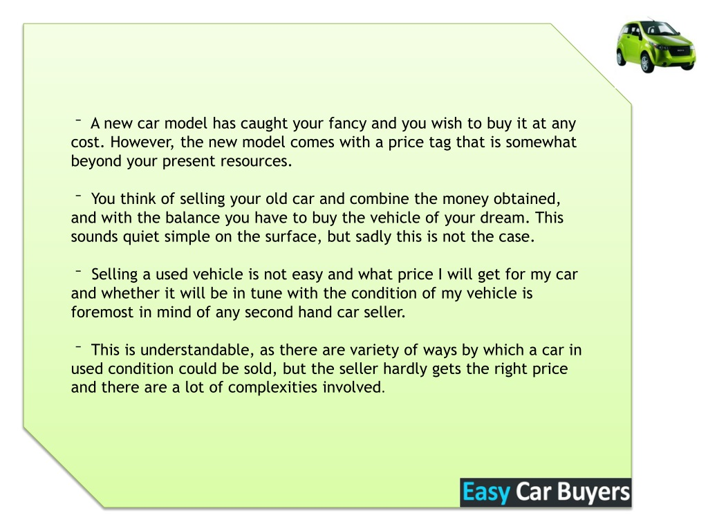 Ppt Get The Best Price For Your Car With Easycarbuyers Powerpoint Presentation Id 1436105