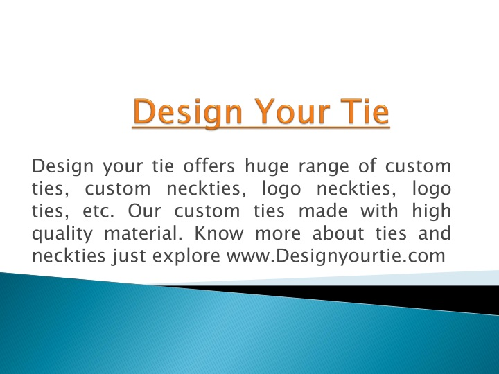 design your tie n.