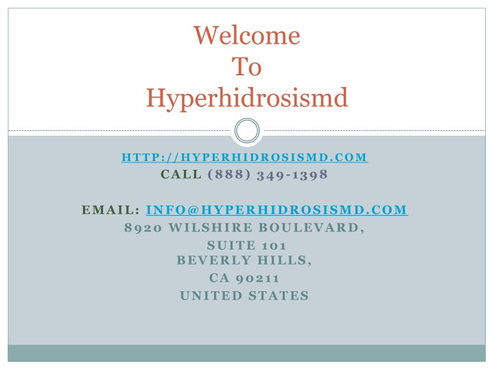 welcome to h yperhidrosismd n.